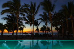 Swim Up View. Not a bad place to hang out to watch the sun go down at the end of another fantastic day Royalty Free Stock Image