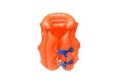 Swim vest for kids. Orange life jacket for kids / Swim vest for kids Royalty Free Stock Photos