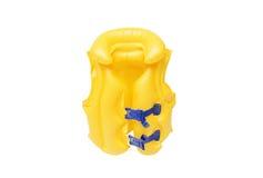 Swim vest for kids. Yellow life jacket for kids / Swim vest for kids Stock Photo