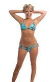 swimbay bikini royaltyfria foton