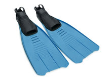 Swimfins Immagine Stock