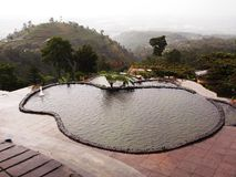 Swimimng-Pool (umbul sidomukti) Lizenzfreies Stockfoto