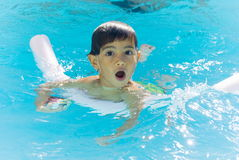 Swiming. Boy having fun in swimming pool Stock Image