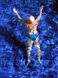 Swiming. In a swimming pool Stock Photo