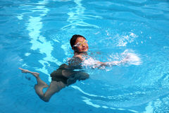Swiming boy Stock Photos