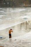 ¼ Œswiming del beijingï del parque del invierno Fotos de archivo