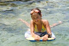 Swiming girl Stock Photo
