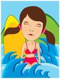Swiming girl Stock Image