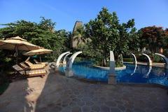 Swiming pool. China resort, in sanya,hainan Stock Photography