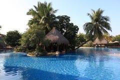 Swiming pool. China resort, in sanya,hainan Stock Photos