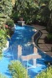 Swiming pool. And garden in sanya,hainan Royalty Free Stock Photography