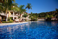 Swiming pool. Beautiful swiming pool in a caribbean hotel Stock Image