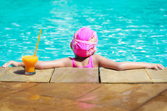 At swiming pool stock photo