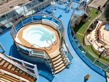 Swiming pool. On the luxury cruise ship Royalty Free Stock Photos