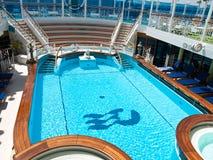 Swiming pool. On the luxury cruise boat Royalty Free Stock Image