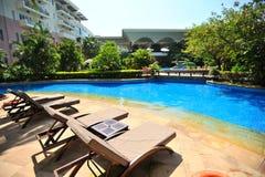 Swiming pool in Boao 4 Royalty Free Stock Photo
