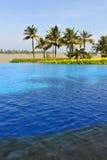 Swiming pool in Boao 6. A blue swiming pool in Boao,Hainan,China Stock Photos