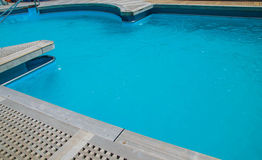 Swiming pool on the deck Royalty Free Stock Image