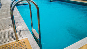Swiming pool on the deck Stock Photos