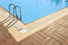 Swiming pool. Detail corner view Royalty Free Stock Images