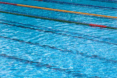 Swiming pool detail. Empty olimpic swiming pool detail - clean water Stock Photos