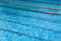 Swiming pool detail. Empty olimpic swiming pool detail - clean water Stock Photos