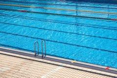 Swiming pool. Empty olimpic swiming pool wait for sport center aperture Royalty Free Stock Image