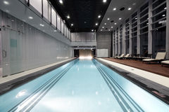 Swiming pool inside building Royalty Free Stock Images