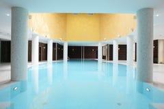 Swiming pool inside building. Beautiful swiming pool inside euporean style building Royalty Free Stock Photos