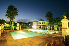 Swiming pool at night. In Spain Royalty Free Stock Photo