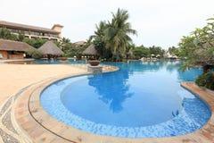 Swiming pool and pavilion Stock Photo