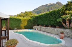 Swimming pool southern Italy stock photos