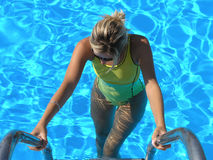 Swiming women Royalty Free Stock Images