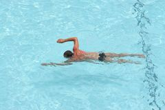 Swimmer. Relax in pool Stock Image