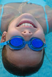 Swimmer. The swimmer with water glasses Stock Photo