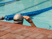 Swimmer. Looking forward to victory Royalty Free Stock Image