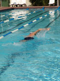 Swimmer. Mid way Royalty Free Stock Image