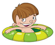 Swimmer boy. Illustration of a swimmer boy Stock Image