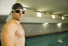 Swimmer By Pool Stock Image