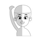 Swimmer cartoon icon image Royalty Free Stock Images