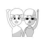Swimmer cartoon icon image Royalty Free Stock Image