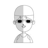 Swimmer cartoon icon image Stock Images