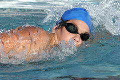 Swimmer close up Stock Images