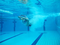 Swimmer in comptition Stock Photography