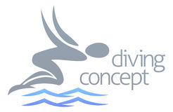 Swimmer diving concept Royalty Free Stock Photo