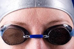 Swimmer eyes Stock Image
