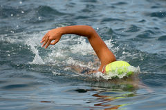 Swimmer floating crawl Stock Image