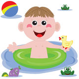 Swimmer funny boy Stock Photo
