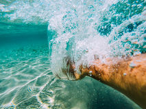 Swimmer hand Royalty Free Stock Image