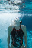 Swimmer Holding Breath Royalty Free Stock Photos